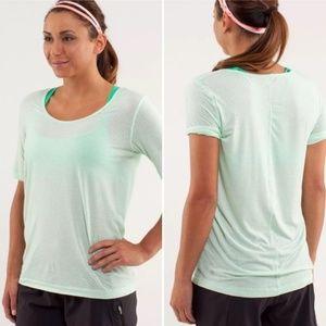 Lululemon Drish Short Sleeve Tee Shirt Fresh Teal
